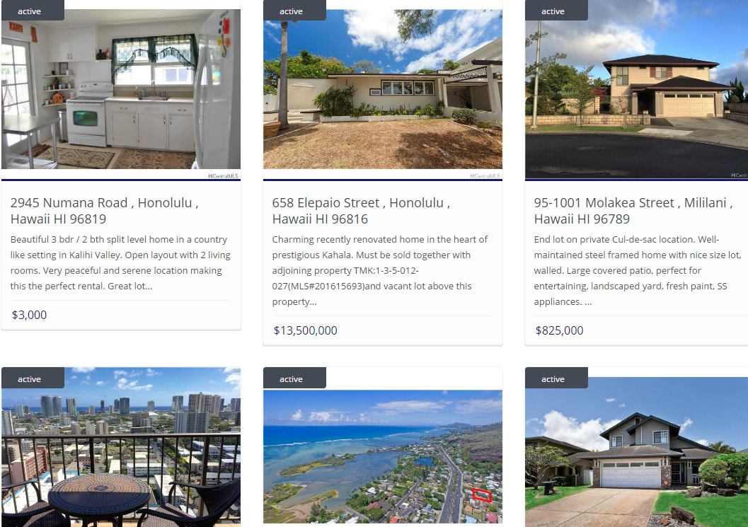 Properties Search for Sale Hawaii