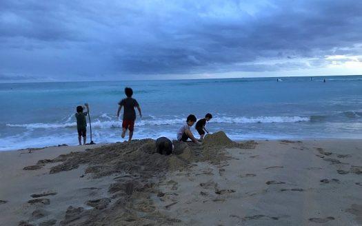 ワイキキビーチ ハワイ サンセット