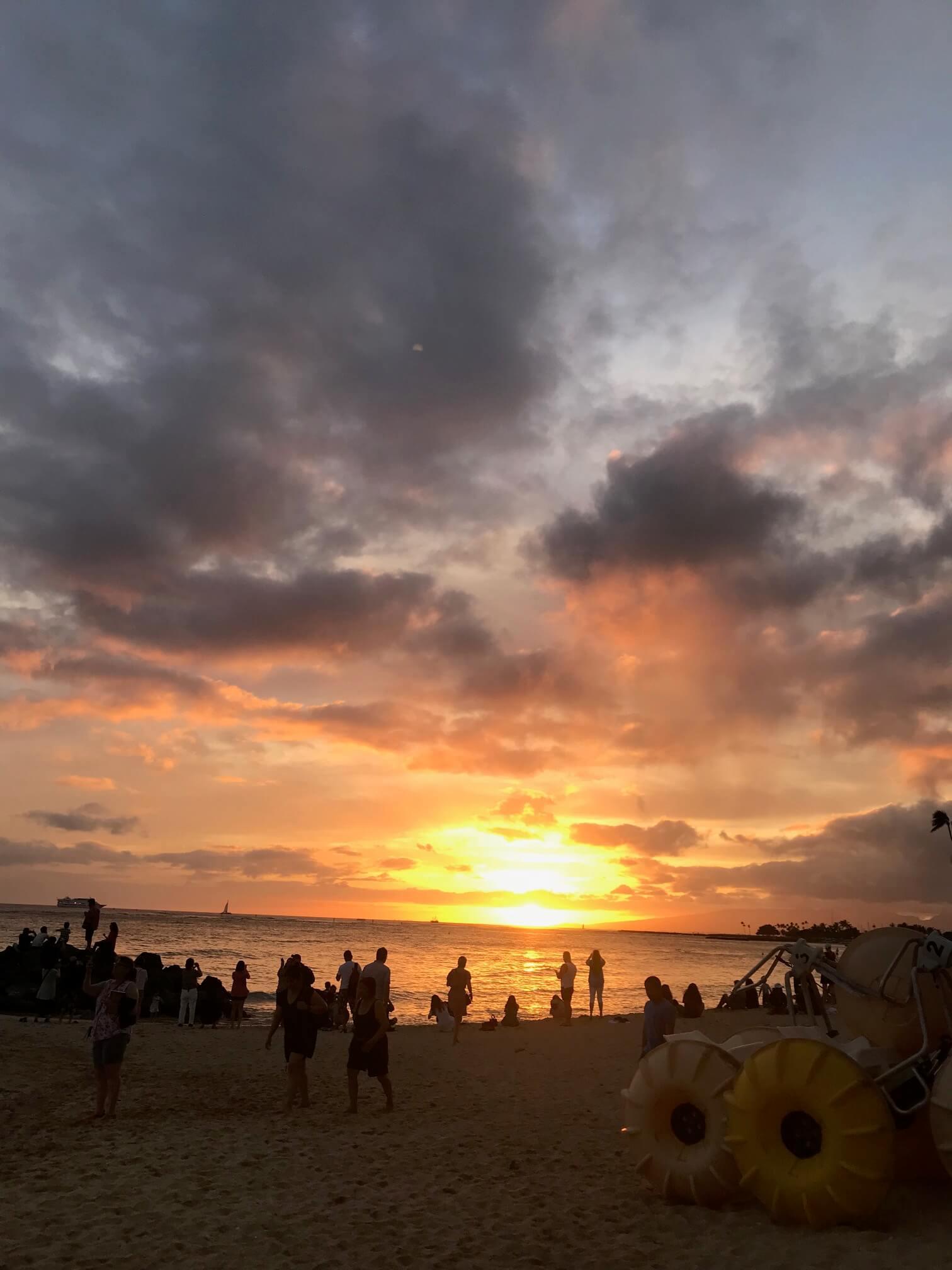 ハワイ サンセット