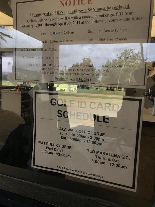 ゴルフ ゴルフID ハワイ アラワイ