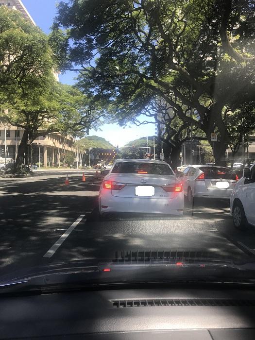 アラモアナブルーバード 通行止め ハワイ