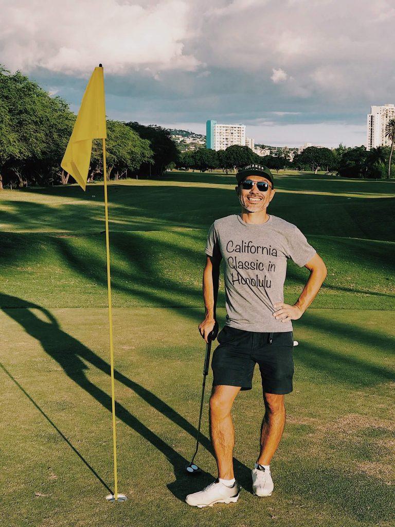 ハワイでゴルフ