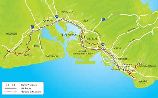 ハワイ 電車 鉄道 計画